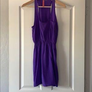 Eight Sixty silk hot lavender dress
